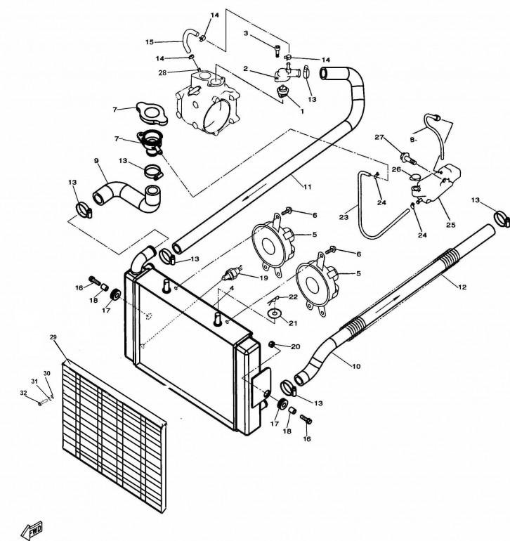Radiator 4x4